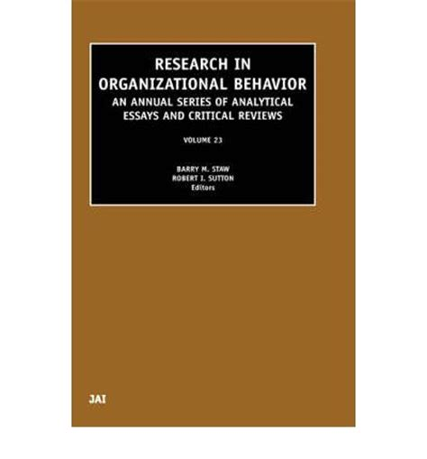 Research paper about human behavior in organization system